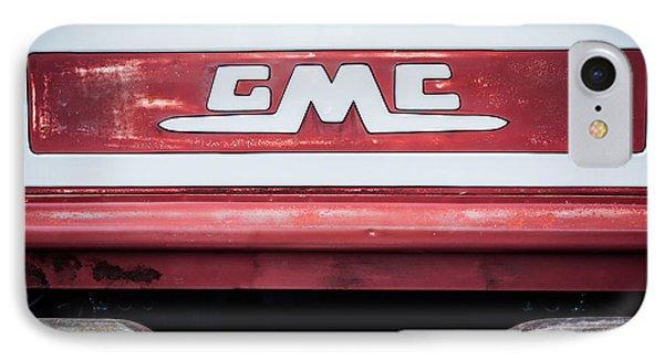 1957 Gmc Pickup Truck Tail Gate Emblem -0272c1 IPhone Case by Jill Reger