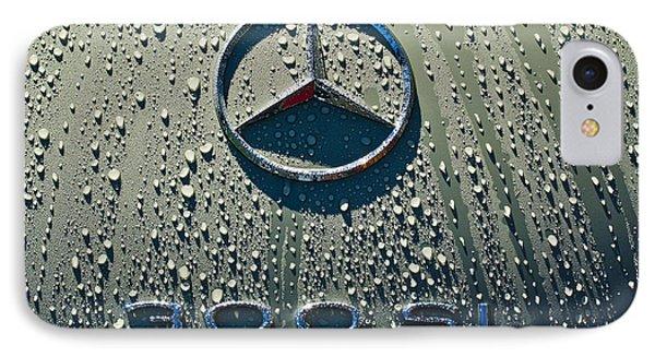 1957 Mercedes Benz 300sl Roadster Emblem Phone Case by Jill Reger