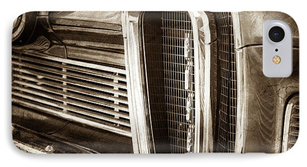 1958 Edsel Pacer Grille Emblem -0018s IPhone Case by Jill Reger
