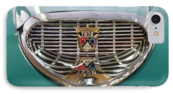 IPhone Case featuring the digital art 1958 Ford Fairlane Sunliner Intake by Chris Flees