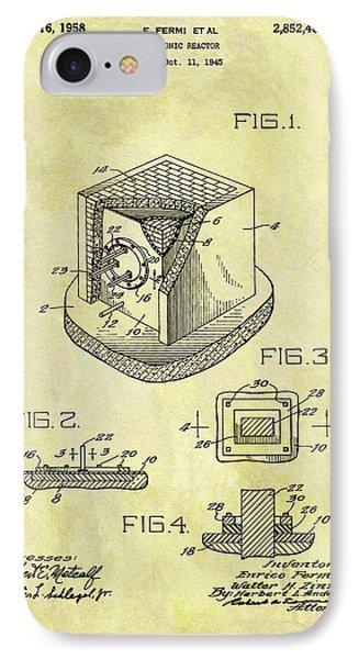 1958 Neutronic Reactor Patent IPhone Case