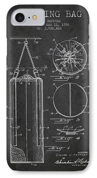 1958 Punching Bag Patent Spbx14_cg IPhone Case by Aged Pixel