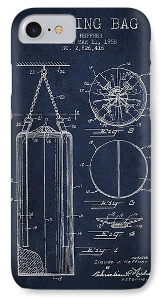 1958 Punching Bag Patent Spbx14_nb IPhone Case