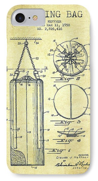 1958 Punching Bag Patent Spbx14_vn IPhone Case