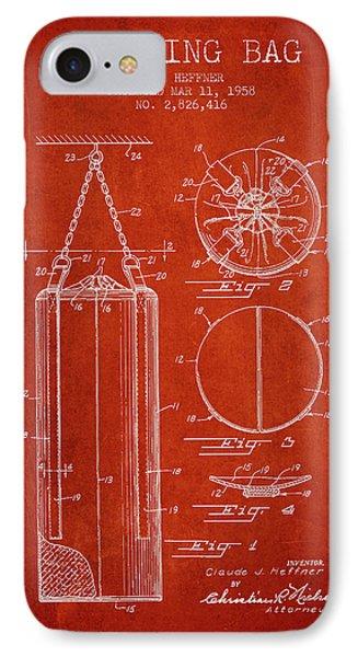 1958 Punching Bag Patent Spbx14_vr IPhone Case