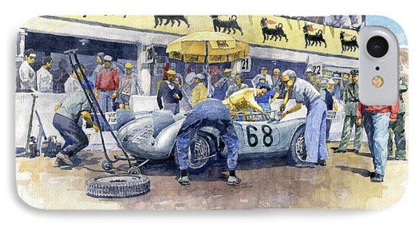 1958 Targa Florio Porsche 718 Rsk Behra Scarlatti 2 Place Phone Case by Yuriy Shevchuk