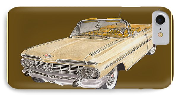 1959 Chevrolet Impala Convertible IPhone Case by Jack Pumphrey