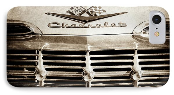 IPhone Case featuring the photograph 1959 Chevrolet Impala Grille Emblem -1014s by Jill Reger