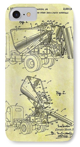1959 Concrete Dump Truck IPhone Case by Dan Sproul