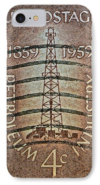1959 First Oil Well Stamp IPhone Case