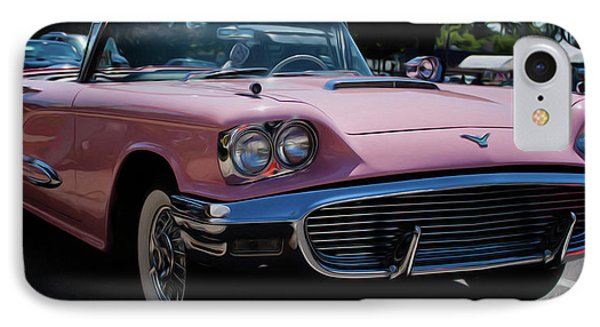 1959 Ford Thunderbird Convertible IPhone Case by Joann Copeland-Paul