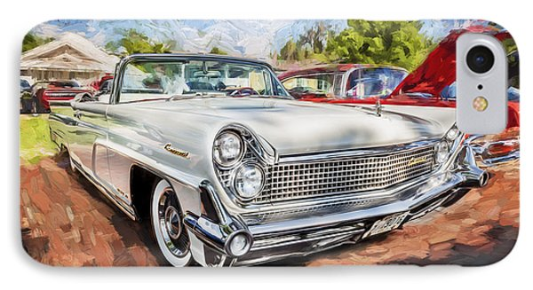 1959 Lincoln Continental Town Car Mk Iv Painted IPhone Case by Rich Franco