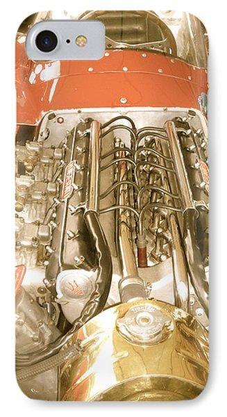 1959 Tecnia Meccanica Maserati 250f Engine Detail IPhone Case by John Colley