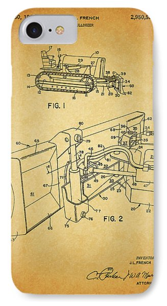 1960 Bulldozer Patent IPhone Case by Dan Sproul