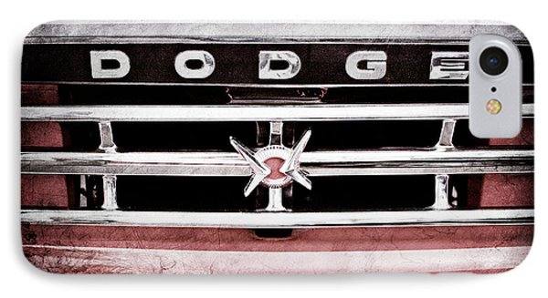 IPhone Case featuring the photograph 1960 Dodge Truck Grille Emblem -0275ac by Jill Reger