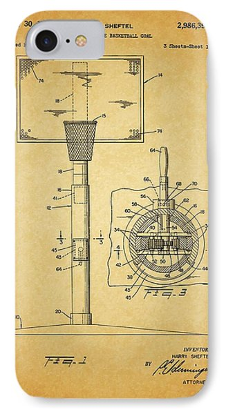 1961 Basketball Hoop Patent IPhone Case