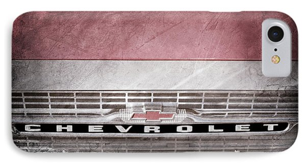 IPhone Case featuring the photograph 1961 Chevrolet Corvair Pickup Truck Grille Emblem -0130ac by Jill Reger