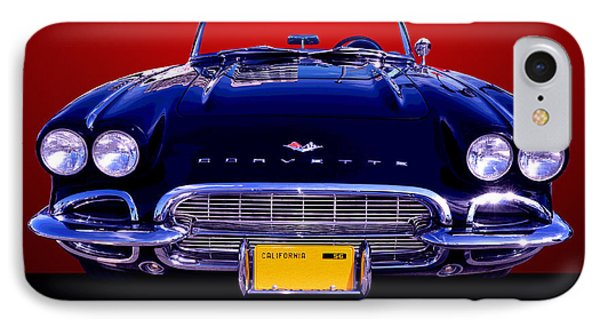 1961 Chevy Corvette IPhone Case by Jim Carrell