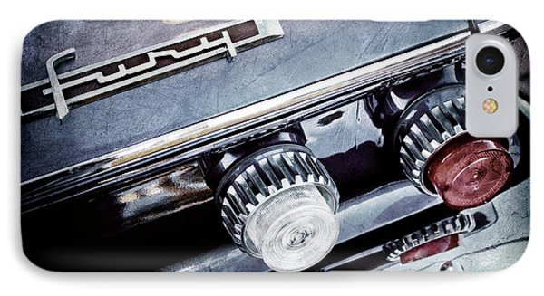 1962 Plymouth Fury Taillight Emblem -0458ac IPhone Case by Jill Reger
