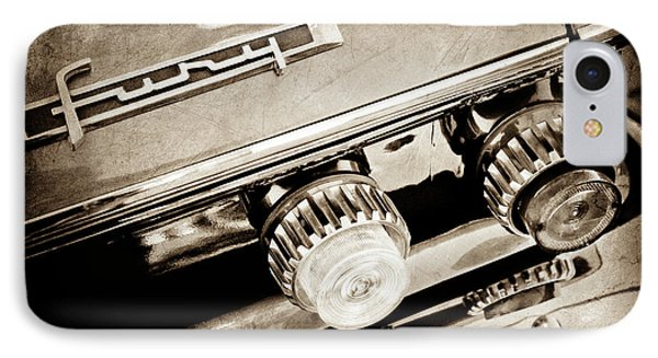 1962 Plymouth Fury Taillight Emblem -0458s IPhone Case by Jill Reger