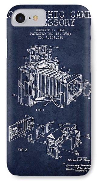 1963 Camera Patent - Navy Blue - Nb IPhone Case