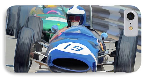 1963 Cooper T66 Coming Out Of Monaco's Mirabeau IPhone Case by Wally Hampton
