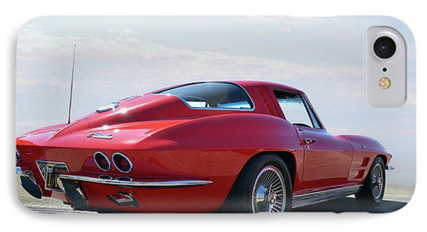 1963 Corvette Coupe IPhone Case by Bill Dutting