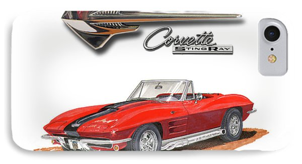 1963 Corvette Stingraw Roadster IPhone Case by Jack Pumphrey