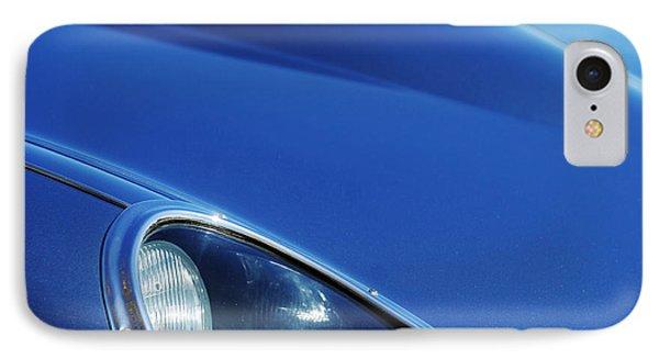 1963 Jaguar Xke Roadster Headlight IPhone Case by Jill Reger