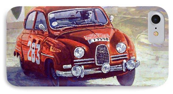 1963 Saab 96 #283  Rallye Monte Carlo  Carlsson Palm Winner Phone Case by Yuriy Shevchuk