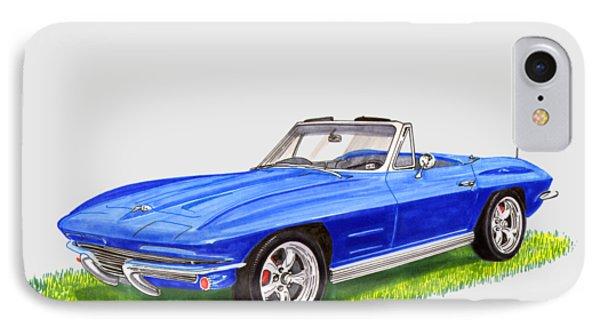 1964 Corvette Stingray IPhone Case by Jack Pumphrey