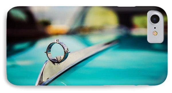 1964 Ford Galaxie 500 Xl Hood Ornament IPhone Case by Jon Woodhams
