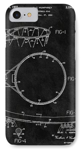 1965 Basketball Goal Patent IPhone Case