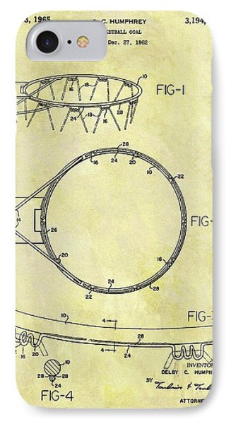 1965 Basketball Hoop Patent IPhone Case