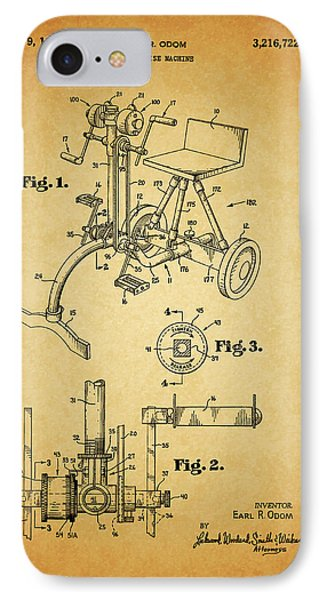 1965 Exercise Machine Patent IPhone Case by Dan Sproul