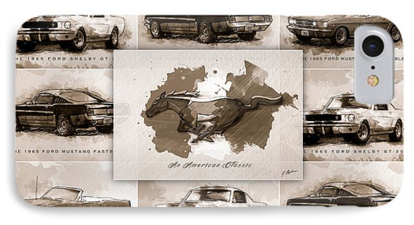 1965 Ford Mustang Collage I IPhone Case by Gary Bodnar