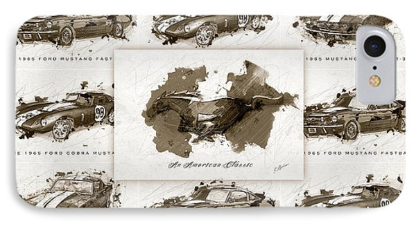 1965 Ford Mustang Collage II IPhone Case by Gary Bodnar