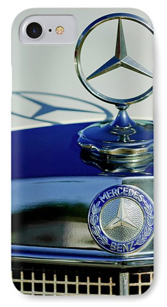 1965 Mercedes 220 Se Cabriolet Hood Ornament Phone Case by Jill Reger