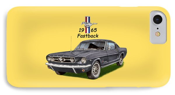 1965 Mustang Fastback Phone Case by Jack Pumphrey
