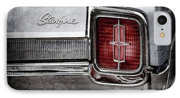 IPhone Case featuring the photograph 1965 Oldsmobile Starfire Taillight Emblem -0212ac by Jill Reger