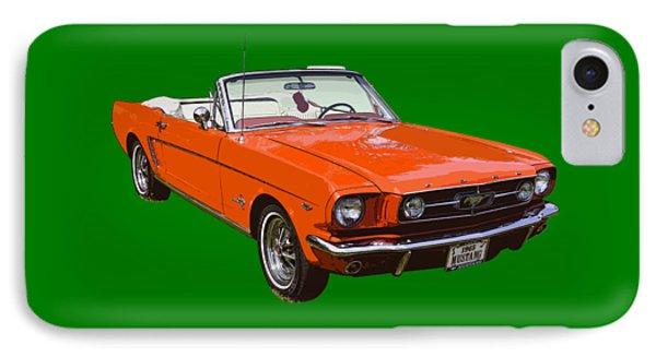 1965 Red Convertible Ford Mustang - Classic Car IPhone Case by Keith Webber Jr