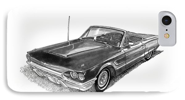 1965 Thunderbird Convertible By Ford IPhone Case by Jack Pumphrey