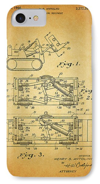 1966 Bulldozer Patent IPhone Case by Dan Sproul