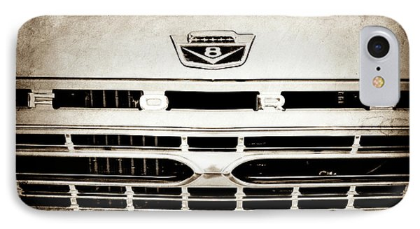 1966 Ford F100 Pickup Truck Grille Emblem -113s IPhone Case by Jill Reger
