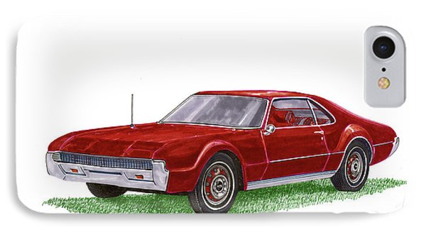IPhone Case featuring the painting 1966 Oldsmobile Toronado by Jack Pumphrey