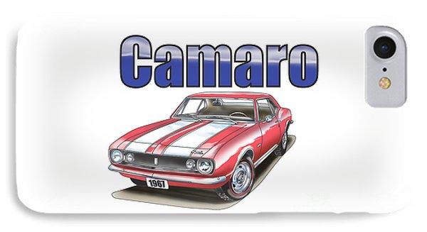 1967 Camaro IPhone Case by Thomas J Herring