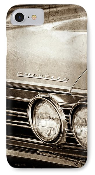 IPhone Case featuring the photograph 1967 Chevrolet Chevelle Ss Super Sport Emblem -0413s by Jill Reger