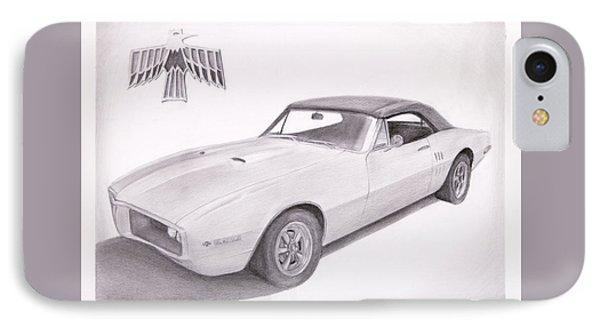 1967 Pontiac Firebird Professional Drawing IPhone Case