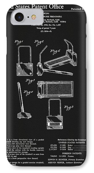1967 Treadmill Patent IPhone Case by Dan Sproul
