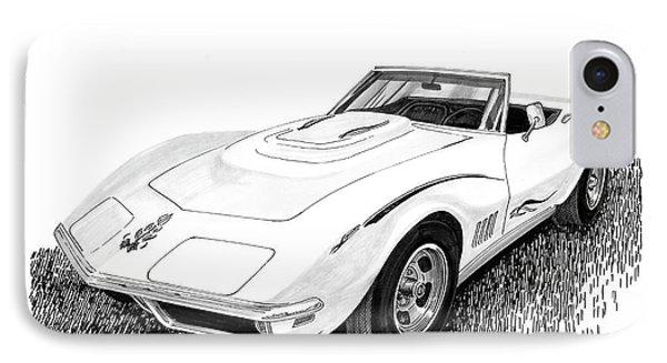 1968 Corvette IPhone Case by Jack Pumphrey